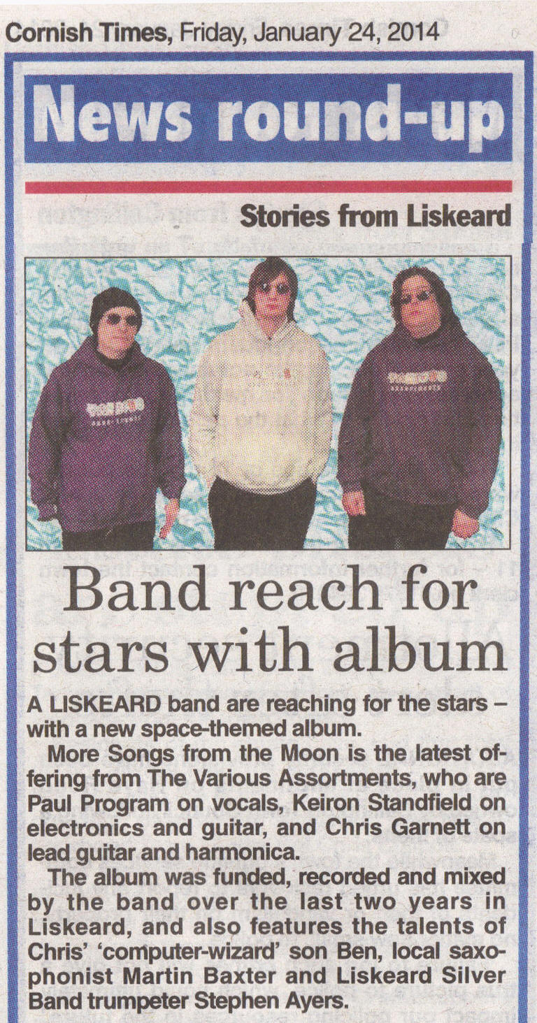 Cornish Times article